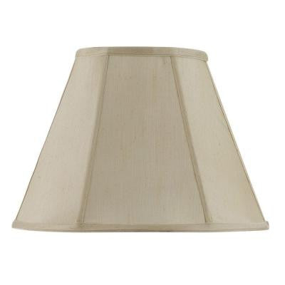 13 in. Cream Fabric Empire Lamp Shade
