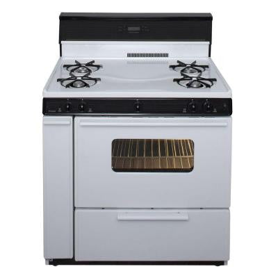 36 in. 3.91 cu. ft. Freestanding Gas Range in White