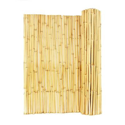 3/4 in. D x 6 ft. H x 8 ft. Natural Rolled Bamboo Fence