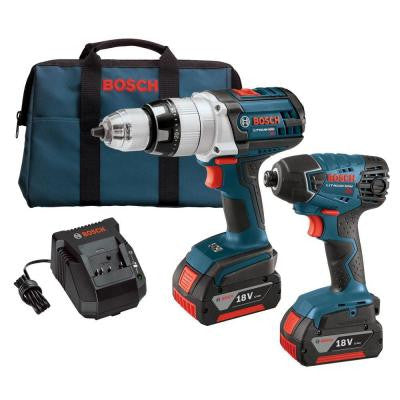 18-Volt Lithium-Ion Cordless Combo Kit (2-Tool) with Hammer Drill/Driver and Impact Driver (2) 4.0Ah Battery and Charger
