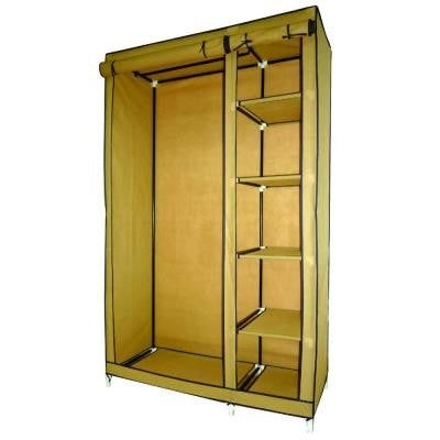 70 in. H Beige Storage Closet with Shelving