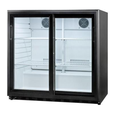 6.5 cu. ft. Sliding Glass Door All-Refrigerator in Black