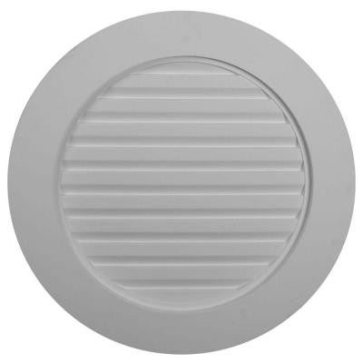 2 in. x 27 in. x 27 in. Decorative Plain Round Gable Louver Vent