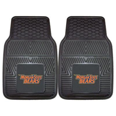 NCAA Morgan State University Heavy Duty 2-Piece 18 in. x 27 in. Vinyl Car Mat