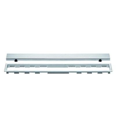 Kerdi-Line Brushed Stainless Steel 24 in. Metal Closed Drain Grate Assembly