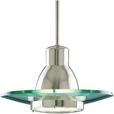 1-Light Brushed Nickel Mini Pendant