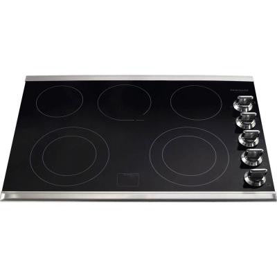 Gallery 30 in. Ceramic Glass Electric Cooktop in Stainless Steel with 5 Burners including a Warming Zone