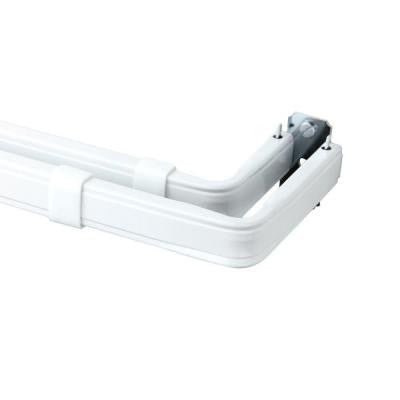 84 in. - 120 in. Lockseam Double Curtain Rod