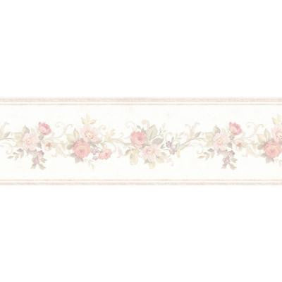 5 in. W x 180 in. H Lory Blush Floral Border
