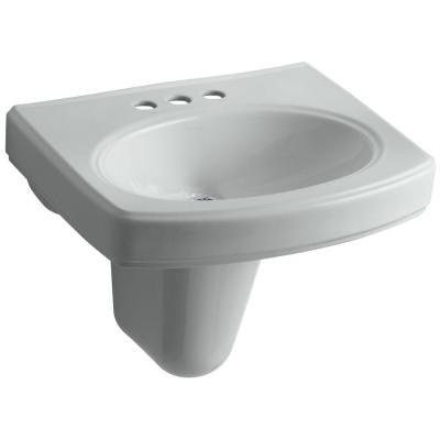 Pinoir Wall-Mount Bathroom Sink in Ice Grey