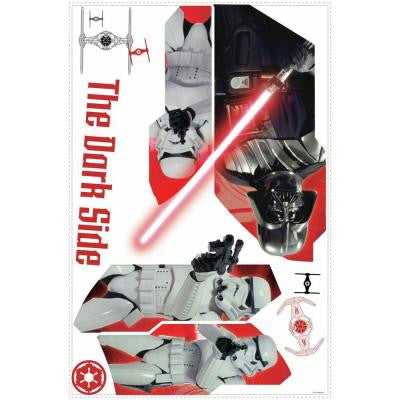 2.5 in. W x 27 in. H Star Wars Classic Darth Vader 6-Piece Peel and Stick Wall Graphic