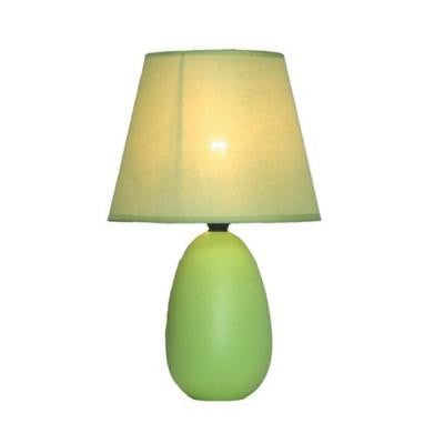 Mini 9 in. Egg Oval Green Ceramic Table Lamp