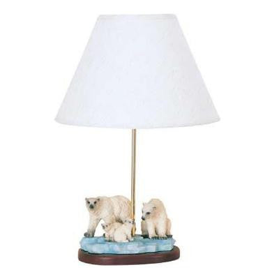 Cooper 21 in. Polar Bear Family Incandescent Novelty Lamp