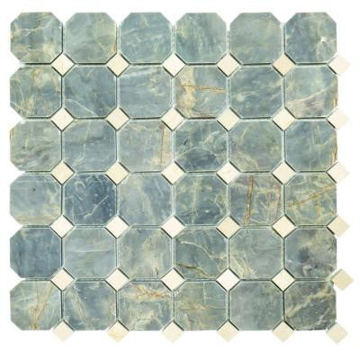Union 12-1/4 in. x 12-1/4 in. x 9.5 mm Marble Mosaic Tile