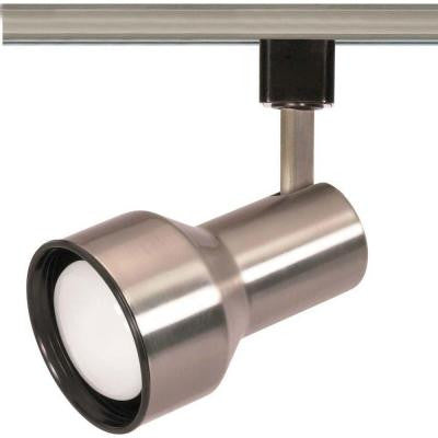 1-Light R20 Brushed Nickel Step Cylinder Track Lighting Head