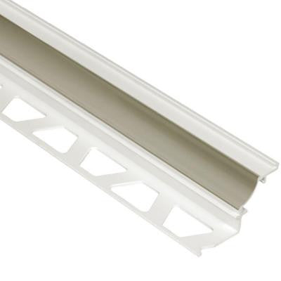 Dilex-PHK Grey 3/8 in. x 8 ft. 2-1/2 in. PVC Cove-Shaped Tile Edging Trim