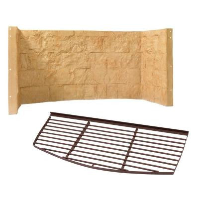 66 in. x 26 in. x 36 in. Tan Cascade Composite Window Well with Metal Bar Grate