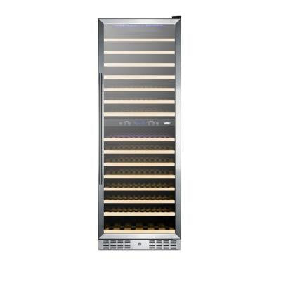 24 in. 157-Bottle Wine Cooler with Two Temperature Zones