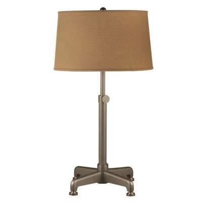 26-30 in. Bronze Industrial Metal Table Lamp with Adjustable Stem