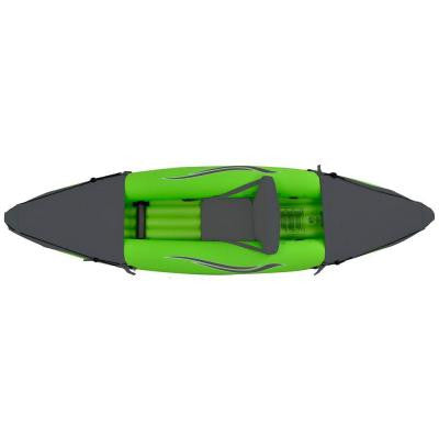 9 ft. Green Inflatable 1-Person Sport Kayak with Rotatable Paddle