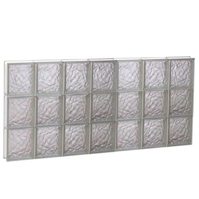 40.125 in. x 23.25 in. x 3.125 in. Ice Pattern Non-Vented Glass Block Window