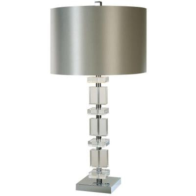 Trixie 32.5 in. Polished Chrome Table Lamp
