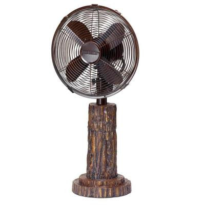 10 in. Fir Bark Table Fan