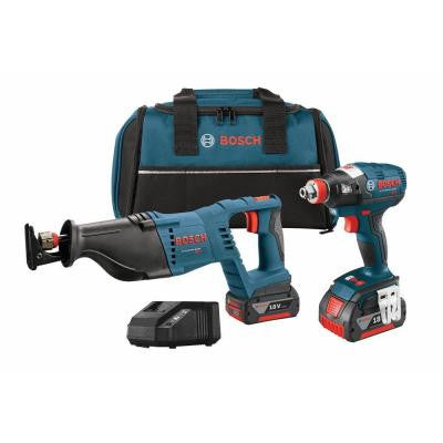 18-Volt Lithium-Ion Cordless Combo Kit with Socket Ready Impact Driver (2-Tool)