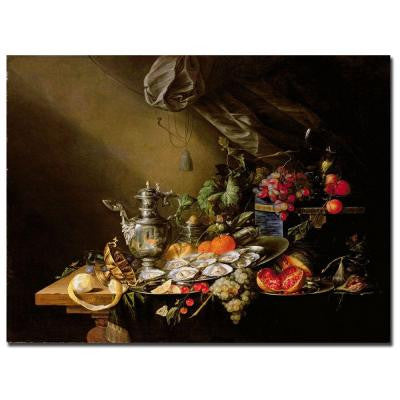35 in. x 47 in. Banquet Still Life Canvas Art