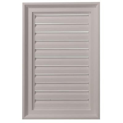 2 in. x 16 in. x 24 in. Functional Vertical Gable Louver Vent