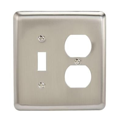 Steel 1 Toggle 1 Duplex Wall Plate - Pewter