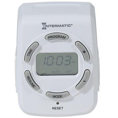 15 Amp Plug-In 2-Outlet Heavy Duty Digital Indoor Timer - White