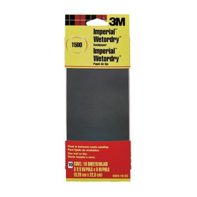 3.66 in. x 9 in. 1500 Grit Sandpaper (10 Sheets-Pack)