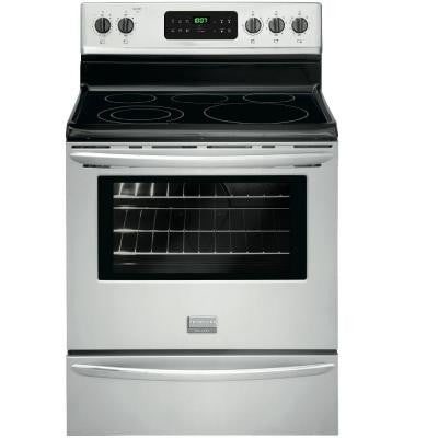 Gallery 5.4 cu. ft. Smoothtop Electric Range with Self-Cleaning Oven in Stainless Steel