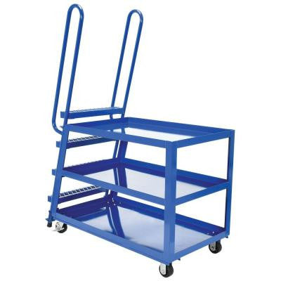 1,000 lb. 28 in. x 52 in. 3-Shelf Hi-Duty Stock Picker Truck
