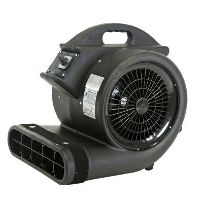 High Velocity 3/4 HP 3 Speed 3 Position 3450 CFM Air Mover / Carpet Dryer / Floor Dryer