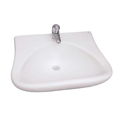 Bella Wall-Mounted Bathroom Sink in White