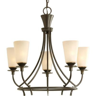 Cantata Collection 5-Light Forged Bronze Chandelier