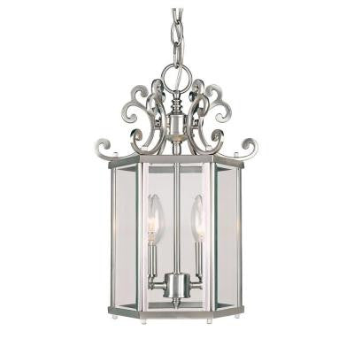 2-Light Pewter Spirit Foyer Pendant