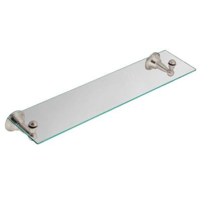 Sage 25 in. W Glass Bath Shelf in Spot Resist Brushed Nickel