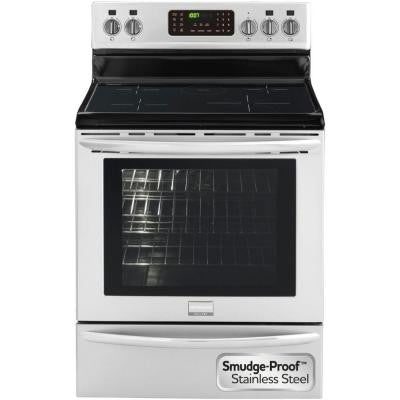 Gallery 5.4 cu. ft. Induction Electric Range with Self-Cleaning Convection Oven in Stainless Steel