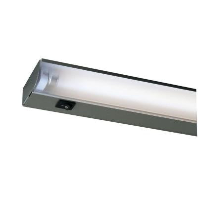 12 in. Silver Fluorescent Under Cabinet Economy Fixture