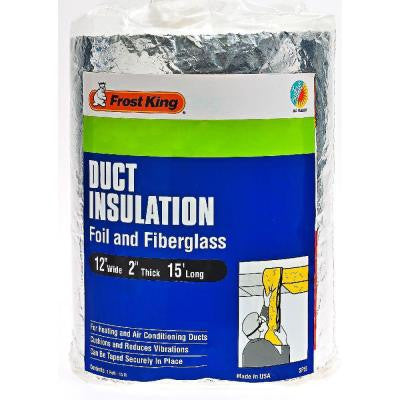 E/O 12 in. x 15 ft. Foil and Fiberglass Duct Insulation