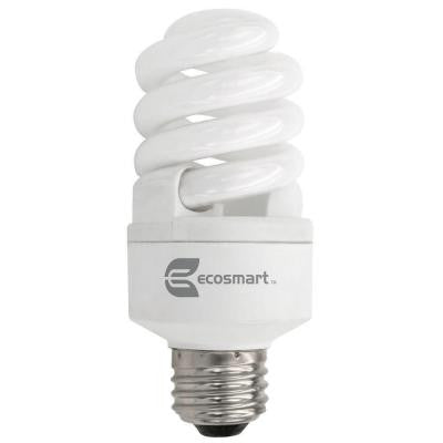 60W Equivalent Soft White (2700k) Spiral Dimmable CFL Light Bulb (2-Pack)