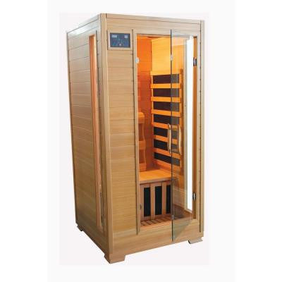 1-Person Hemlock Carbon Heater Infrared Sauna