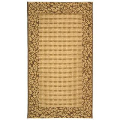 Courtyard Natural/Brown 4 ft. x 5 ft. 7 in. Indoor/Outdoor Area Rug
