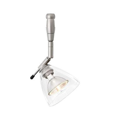 Mini-Dome I Swivel I 1-Light Satin Nickel Clear Track Lighting Head