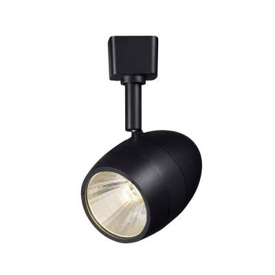 2.56 in. 1-Light Black Dimmable LED Track Lighting Head