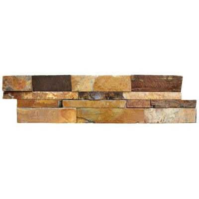 California Gold Ledger Panel 6 in. x 24 in. Natural Slate Wall Tile (5 cases / 20 sq. ft. / Pallet)