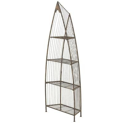 Sundry 4-Tier Iron Boat Shelf in Bronze